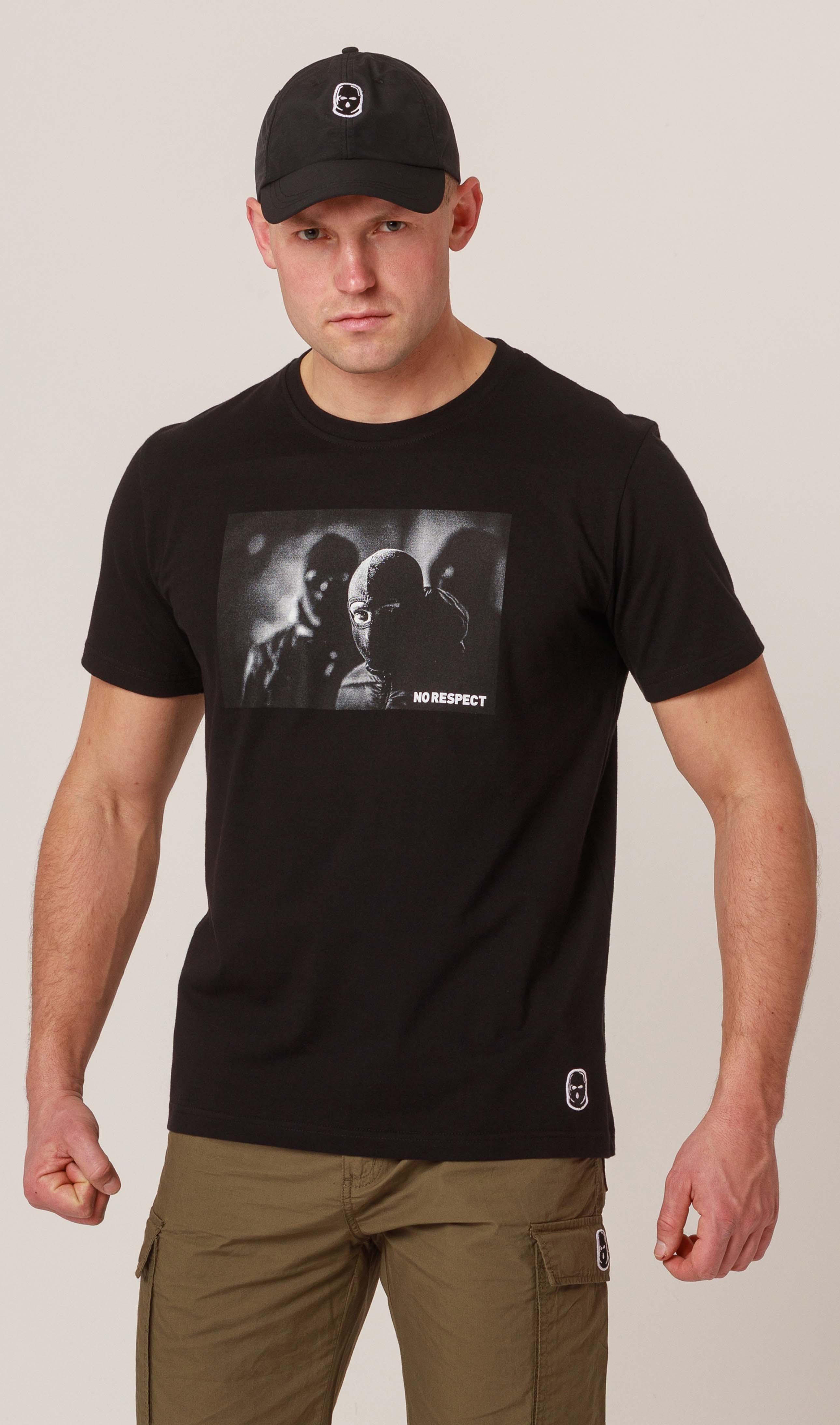NRBSS202119 T-shirt NO RESPECT Photo Black S
