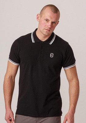 NRBSS202120 Polo NO RESPECT Basic Black S