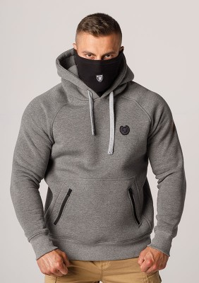 """Full Face Hoodie """"Rioter"""" Light Grey"""