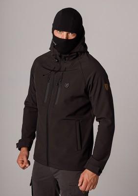 "Full Face Softshell Jacket ""Aggresive"" Black"