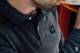 Longsleeve Polo Label Dark Grey