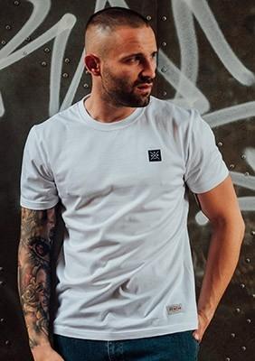 T-shirt Label Biała