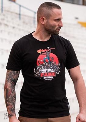 T-shirt Fake Media Black