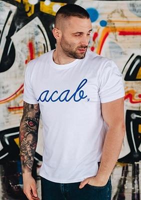 AllColours T-Shirt acab Pure White / Blue