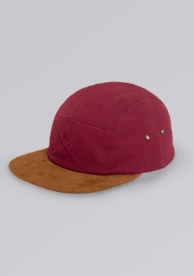Czapka 5 Panel Maroon