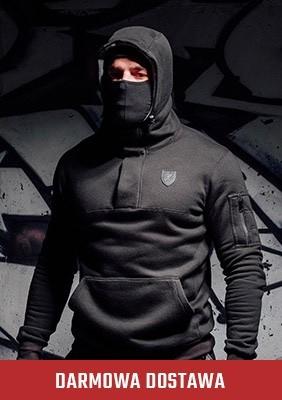 Bluza z kominiarką Frontline`18 Black
