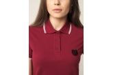 Damen Poloshirtshirt Laurel Maroon