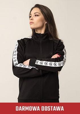 Damen Trainingsjacke Retro Supreme Black