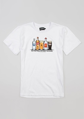 "T-shirt ""Alcofootball"" White"