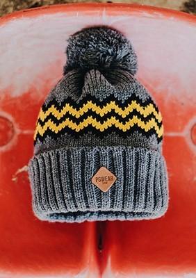 AW16 Czapka Zimowa Pom Pom Żółta