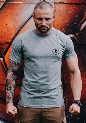 AW16 T-shirt Emblem Szary S