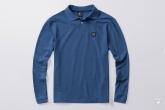 Longsleeve Polo Label Niebieskie