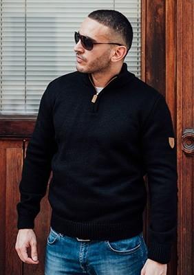 AW17 Sweter Regular Czarny S
