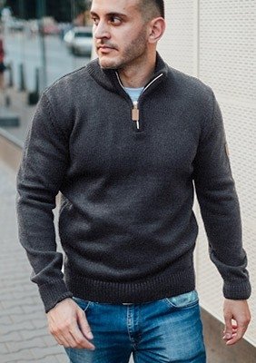 AW17 Sweter Regular Szary S