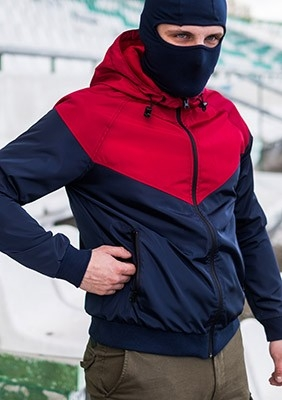 Full Face Jacke Navy-Red-White