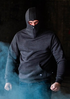 Ninja Kapuzenpulli Stealth Dark Grey