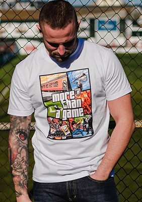 SS17 T-shirt More Than a Game Biały S
