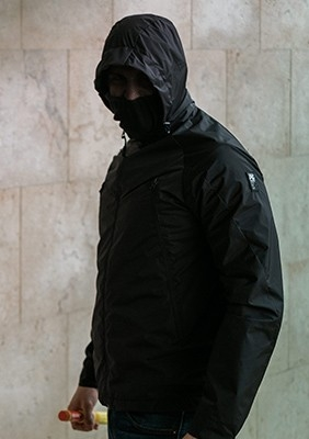Mask Jacke Fighter Black-Pyro