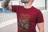 T-shirt Stadium Banned Maroon