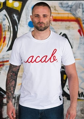 AllColours T-Shirt acab Pure White / Red