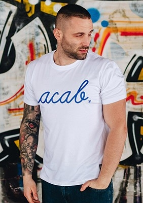 AllColours T-Shirt acab Pure White / Blue