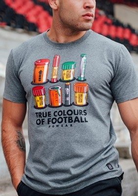 T-shirt Colours of Football Grey