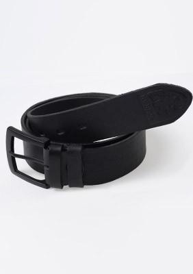 Ledergürtel Logo Black